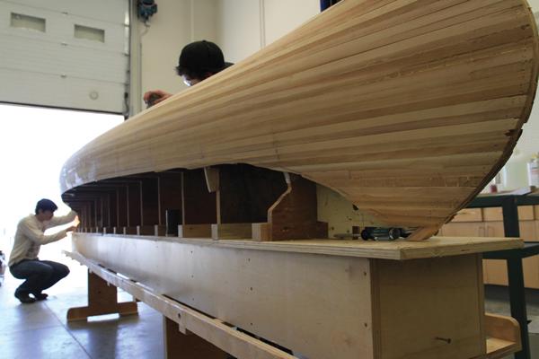 Valemount Secondary students learn canoe building