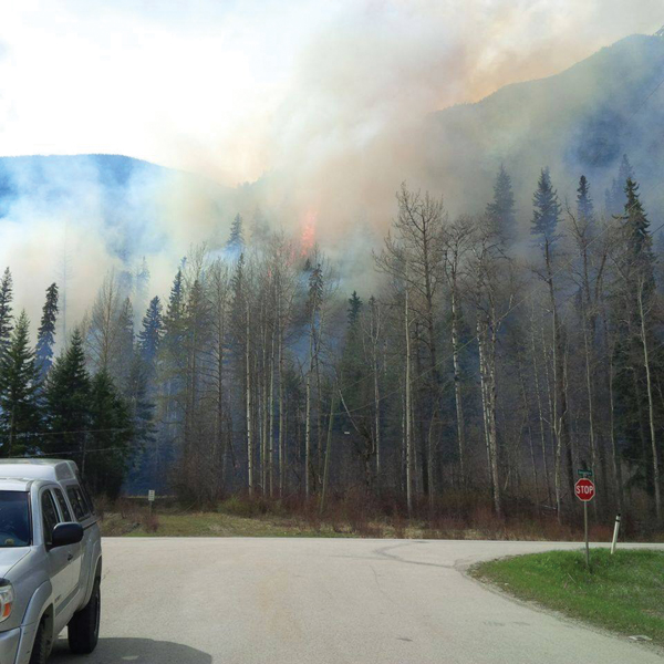 The Robson Valley is under a fire ban, which can partially be attributed to warm weather