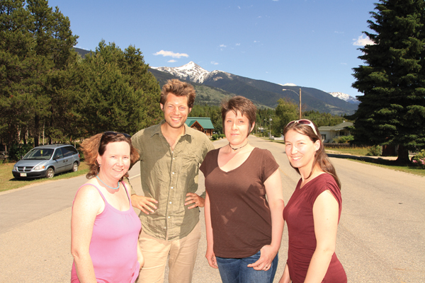 The Goat's 2015 team: (L to R) Korie Marshall, Editor, Frank Green, McBride reporter, Alison Kubbos, Graphic Design & Billing, and Laura Keil, Sales & Publisher.