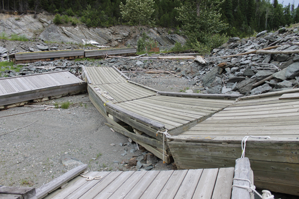 Old Valemount marina Dock