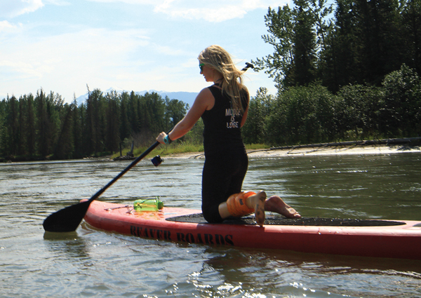 Nicki just started paddle boarding this year.