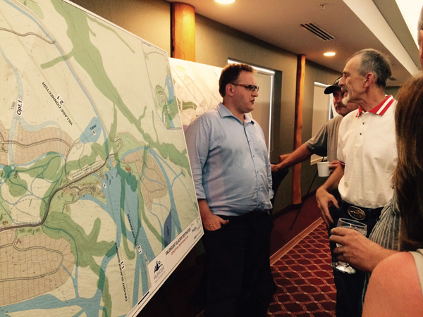 Tom Oberti of VGD answers questions from the public.