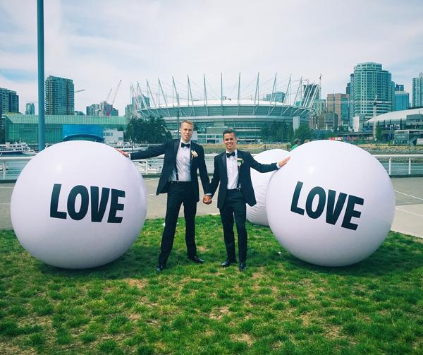 Dakota Stone and Paul Alberts wedding gay pride