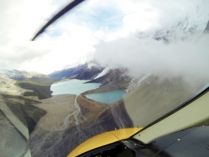 Berg Lake Mt Robson paddleboarding helicopter
