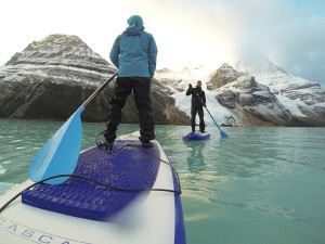 Rich Kim and Hamish Farmer took on an extreme paddle boarding adventure in Mount Robson Park