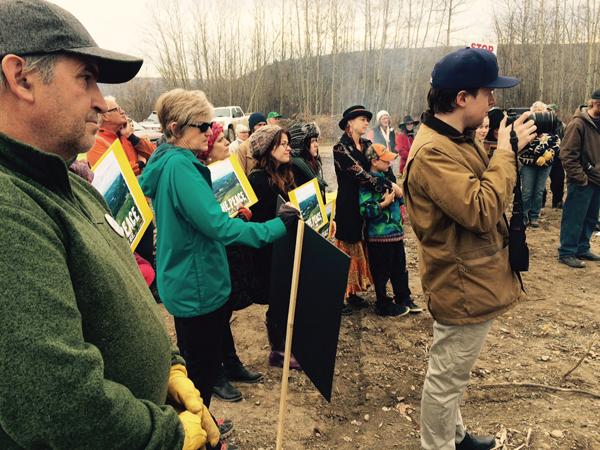 Site C protest oct 2015 peace river (8)