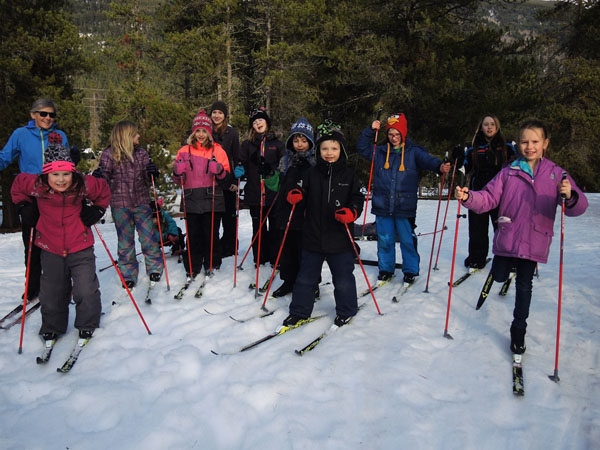 Kids cross-country ski thanks to program