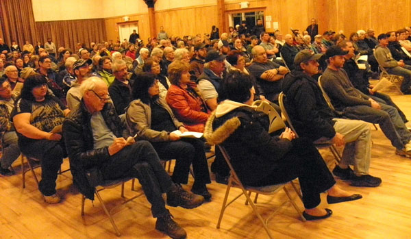around 170 people showed up to the public hearing on the proposed silica plant.