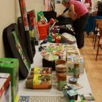 gardening supplies on display