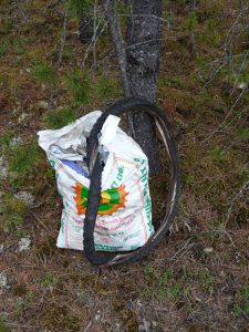 A pellet bag full of carelessly discarded crud is representative of the refuse which builds up on our roadsides and in woodland during the year. / ROSS BALLARD