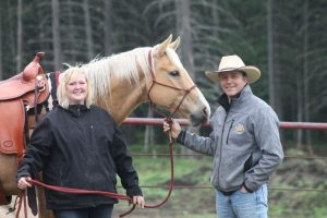 Photo submitted: Martina Wall got a surprise gift during a Parelli horse training course.