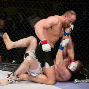 SUPPLIED: The number one ranked amateur heavyweight MMA fighter in Canada pummels his opponent.