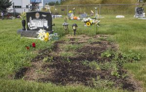 Photo: Evan Matthews The plots are side-by-side, with Robert have passed on most recently.