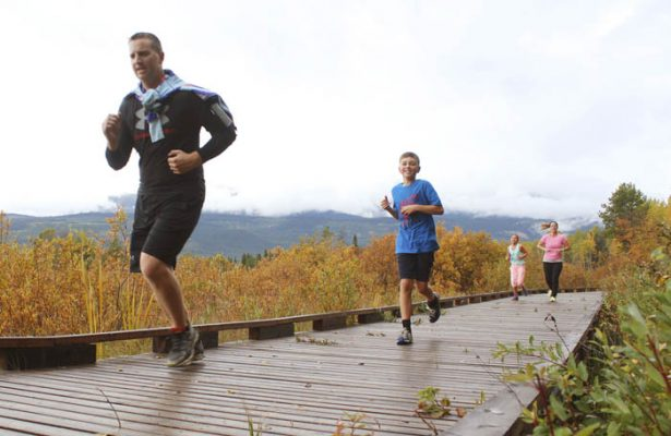 Although Valemount hadn't seen a Terry Fox Run in a few years, over 30 people participated, and the community as a whole raised roughly $2,000 for cancer research.