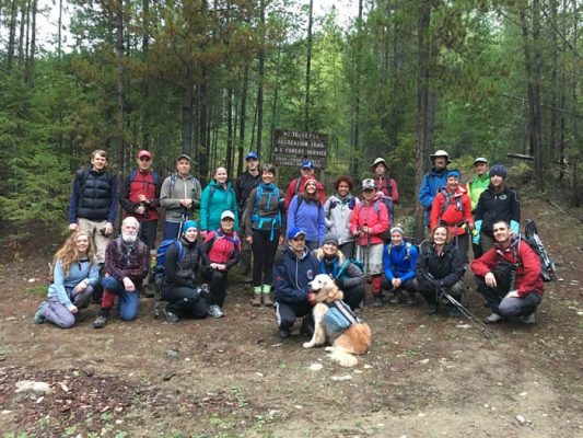 Photo: Supplied The group of 30 at the (Mount) Terry Fox Trailhead