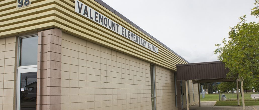 Photo: Evan Matthews Valemount Elementary School's 2016-17 numbers are not far off the projections, according to SD57.
