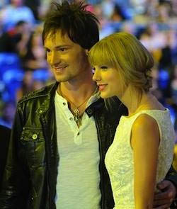 Photo: Supplied Ryan Laird meets Taylor Swift at the CCMAs.