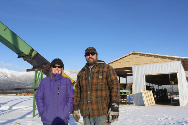 Photo: Evan Matthews Jason Alexander and Brianne Mcneill own Cedar Valley Holdings Ltd., a company specializing in making shingles and producing cedar products. The couple's business is the first to re-locate to the VCF Cedarside Industrial Park, as they expect their business to double in size in coming months.