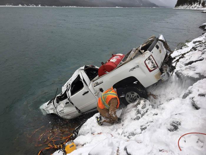 Narrow escape: logger survives plunge into frigid Kinbasket waters