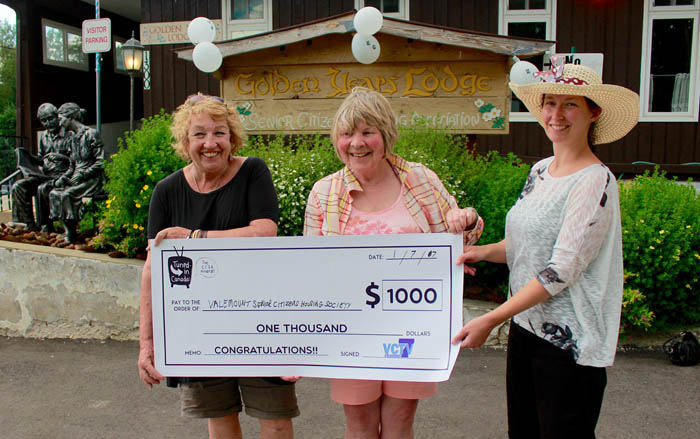 VCTV gives $1,000 to local non-profit