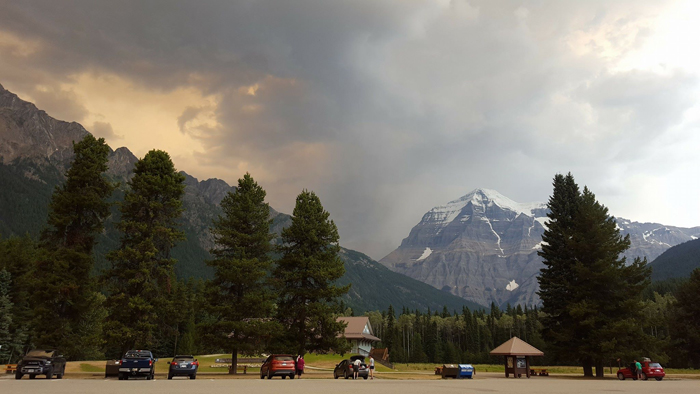 An active fire near Valemount is not on the map – how come?