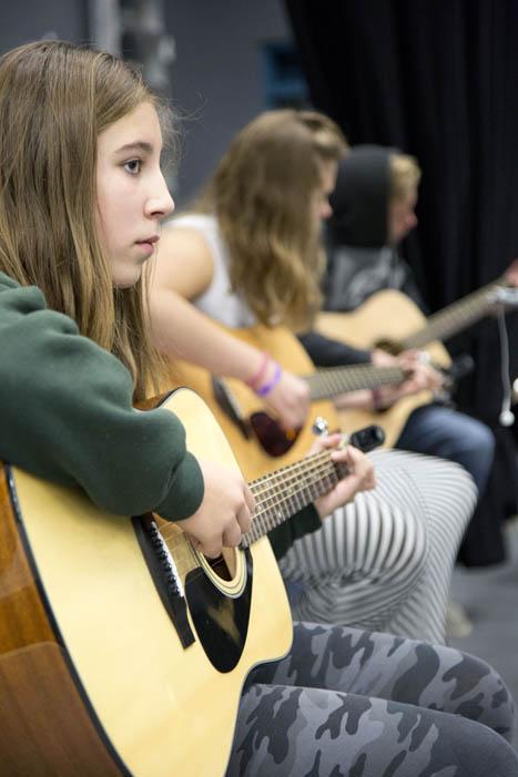 Banded together: Valemount Secondary guitar class