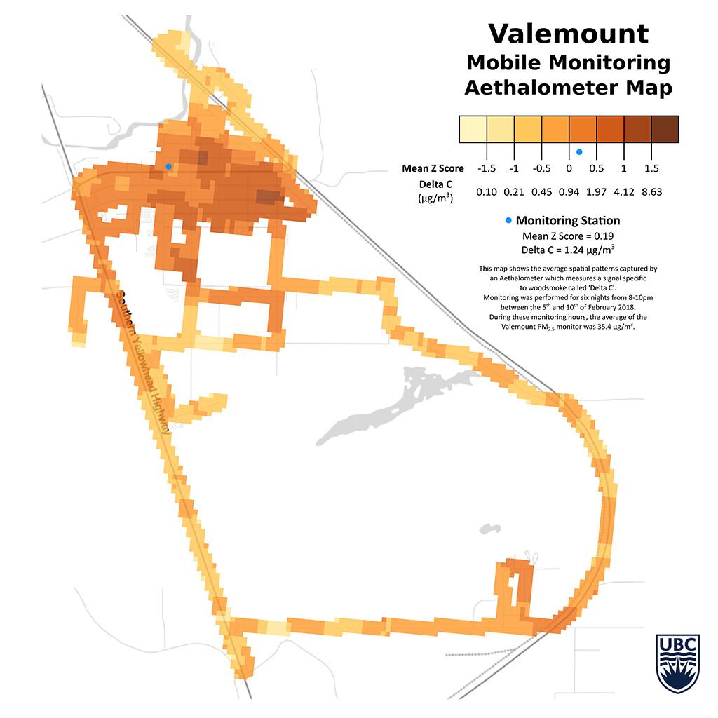 Researcher maps wood smoke pollution in Valemount