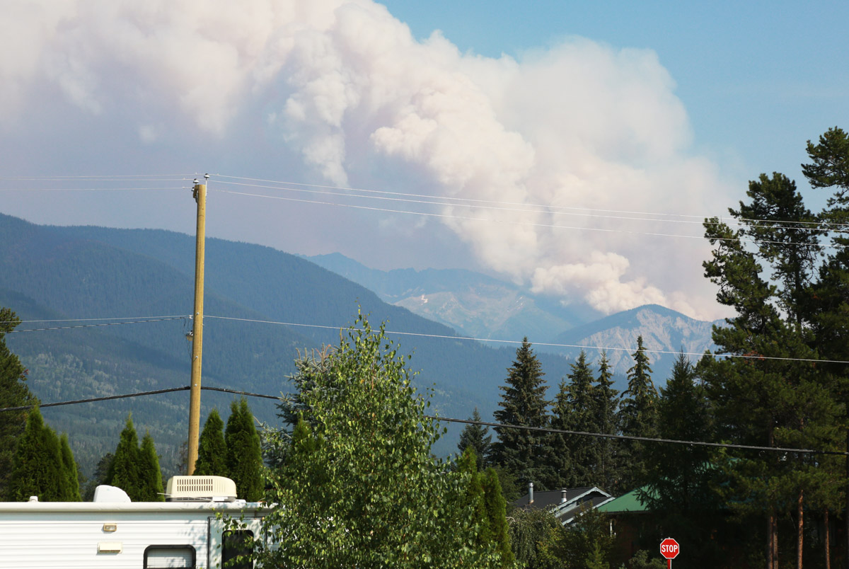 Dave Henry wildfire flares up south of Valemount