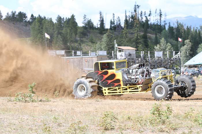 Mud racers blast off!