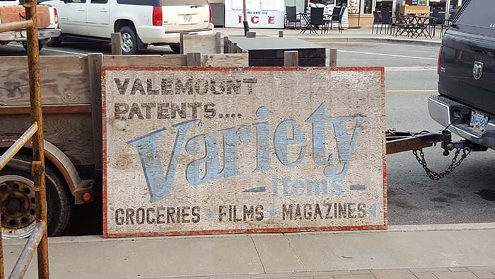 Old Valemount Patents sign uncovers memories