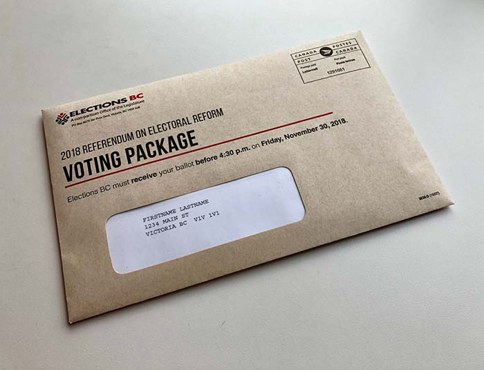 Electoral reform packages mailed