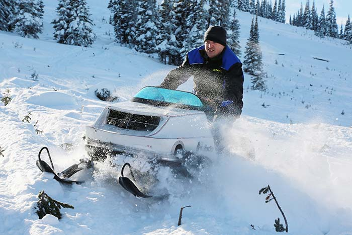 Vintage jet setters: McBride's annual snowmobile event