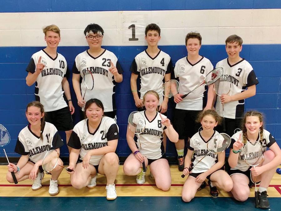 Valemount High Badminton winners