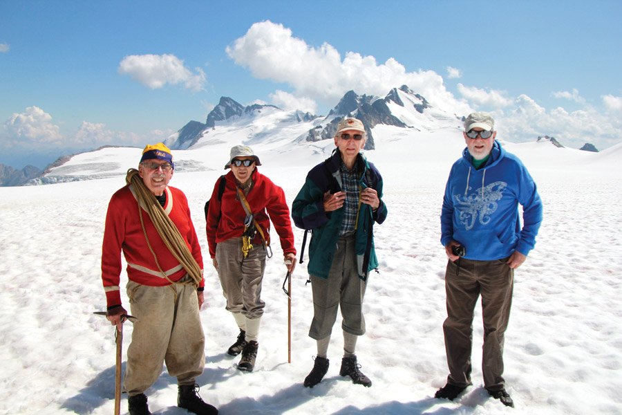 80-year-old explorers revisit early ascents