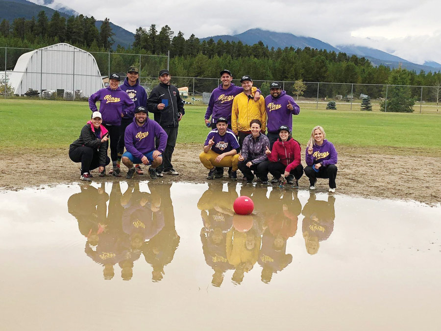 Kickball fundraiser leans into the wet