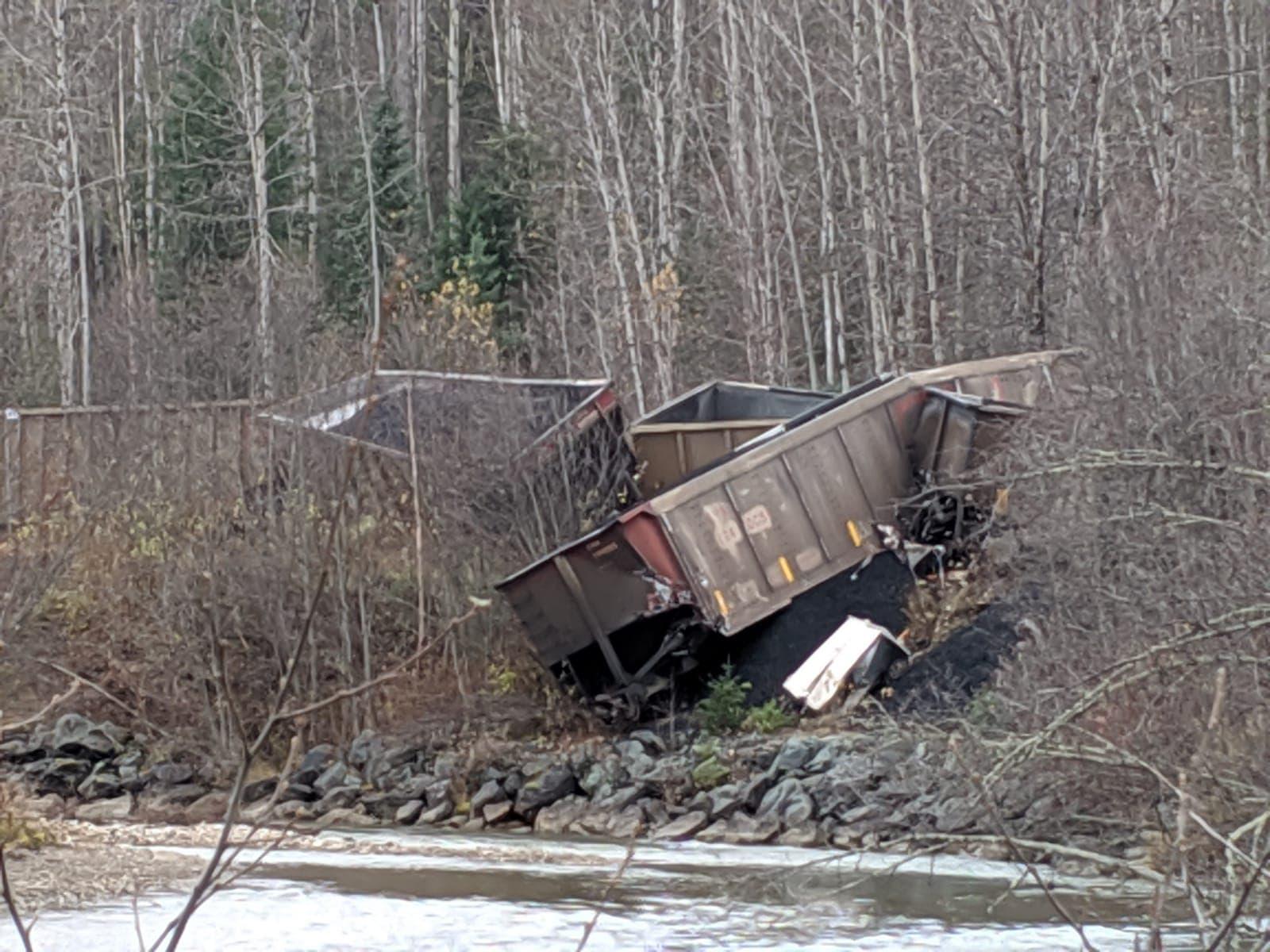 18 train cars derail west of McBride