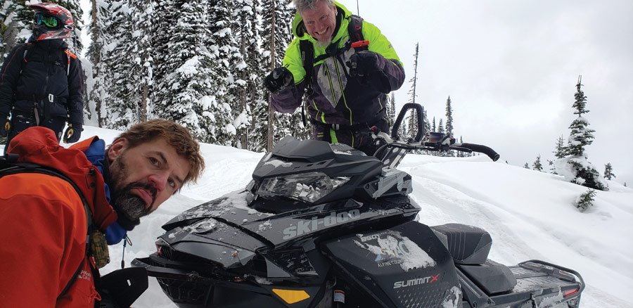 Avalanche Canada reps try their hand at mountain sledding