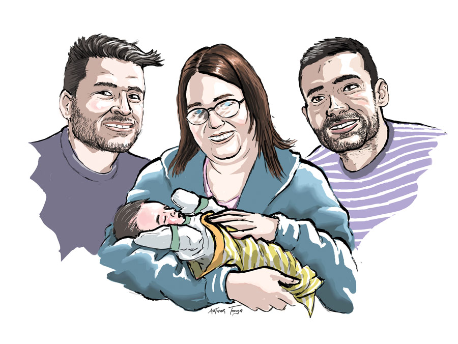 """Valemount Surrogacy: Montreal men say they're """"the happiest family"""""""