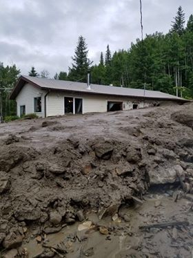 Mudslide in McBride prompts evacuation of at least five households