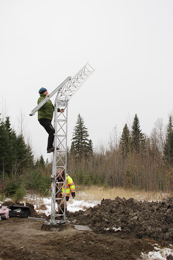 McBride weather station In progress
