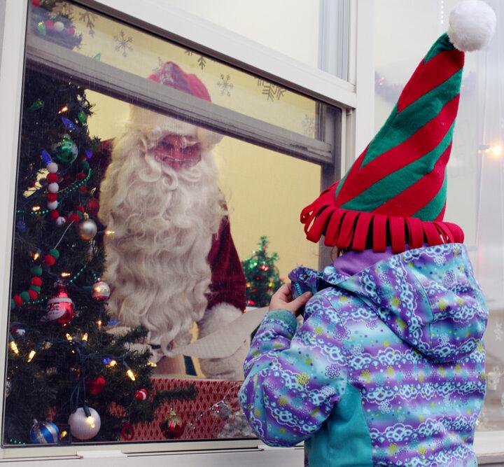 Socially-distanced Santa