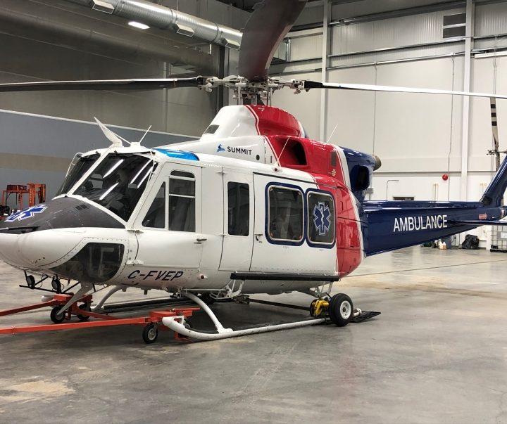 Air ambulance helicopter now flying out of Prince George
