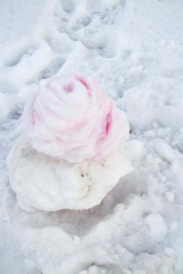 High schoolers get creative with snow sculptures