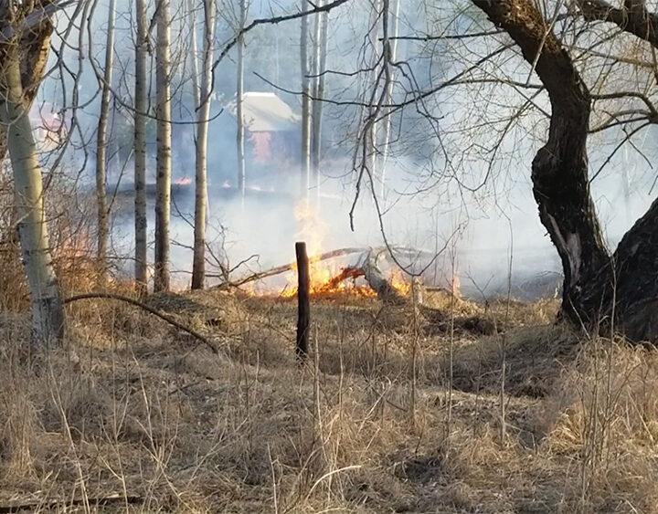 Valemount grass fire drill