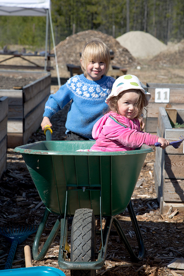 Ready to grow at Valemount's community garden