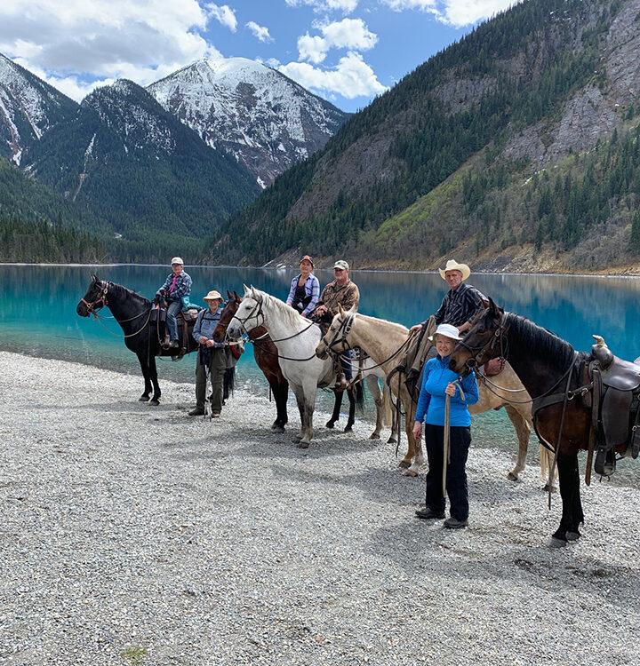 Backcountry horsemen tackle Berg Lake Trail clean-up