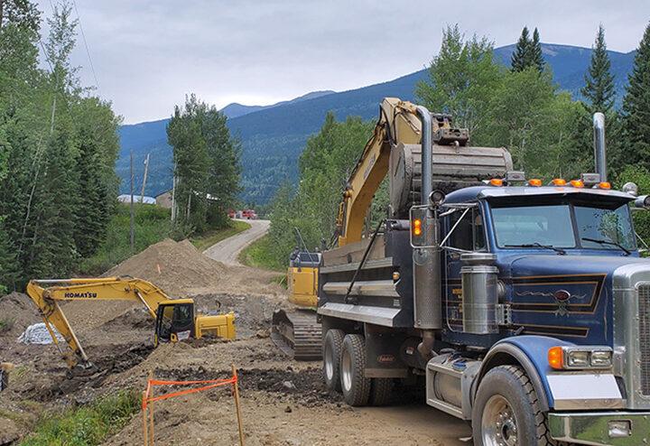 Repair on Airport Road underway in McBride