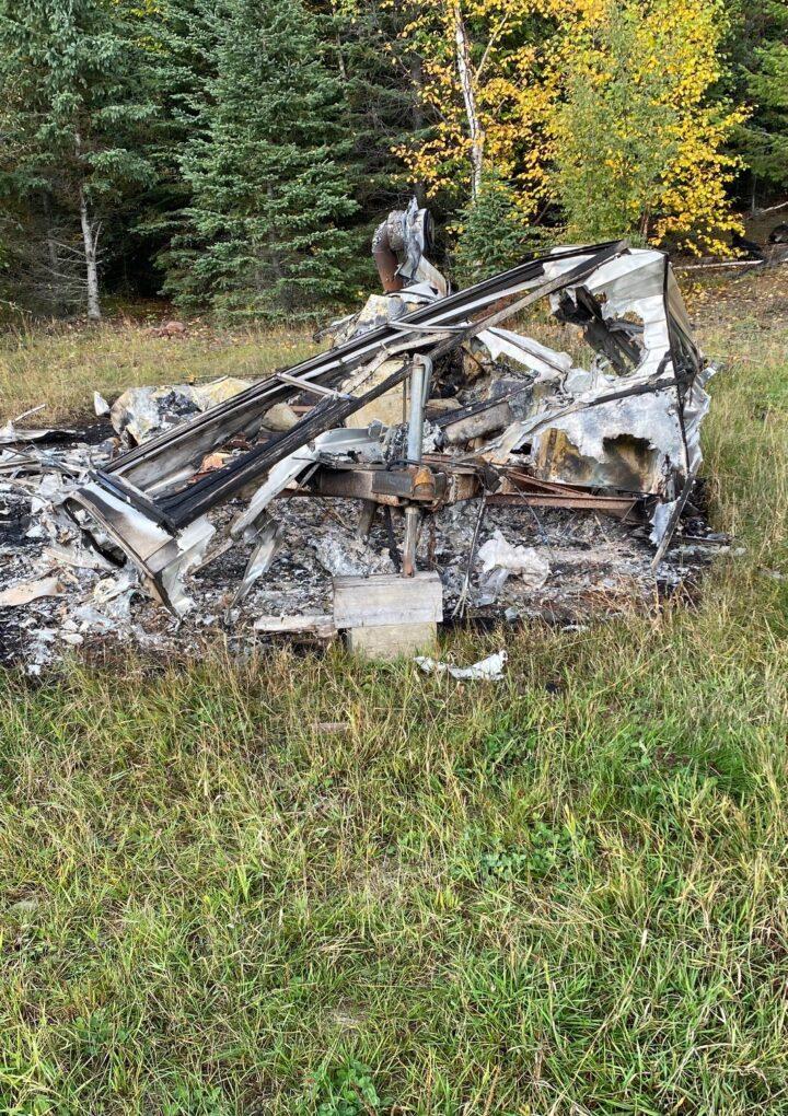 Possible arson on rec vehicle at Kinbasket